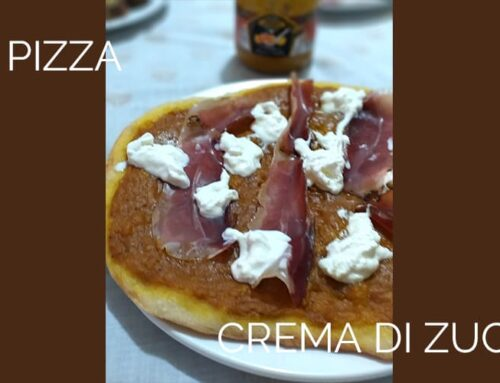 Pizza alla crema di zucca filotei
